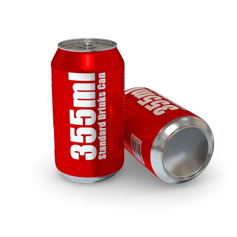 drinks - 355ml standard 3d model