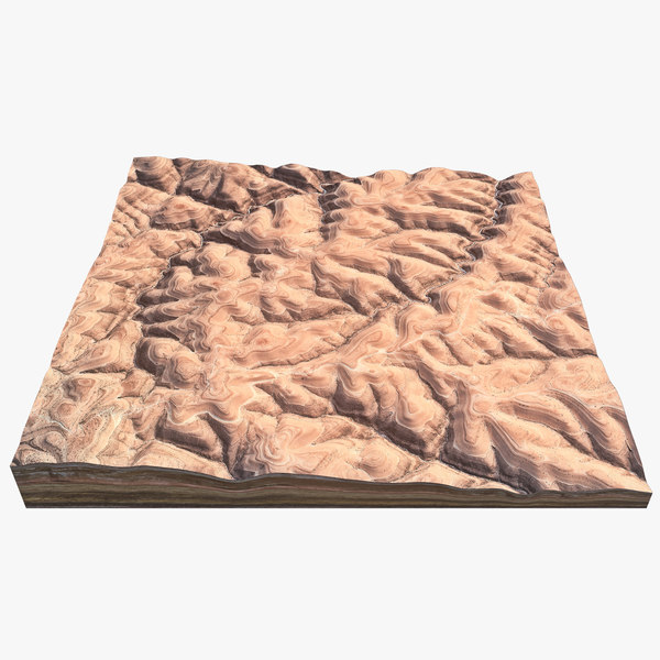 desert hills 3d max