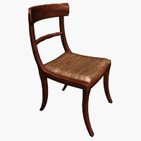3d chair furniture room model
