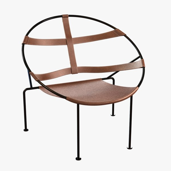 fdc1 armchair leather 3d 3ds