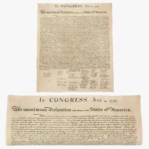 american declaration independence c4d