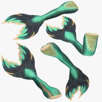 3d max mermaid tail 01