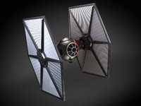 3d star wars tie fighter model