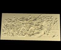 triumphal arch bas-relief reliefs 3d obj