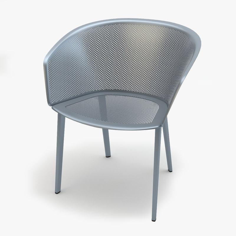 kettal stampa chair 3d obj