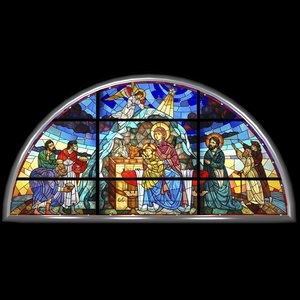 lead stained glass window 3d max