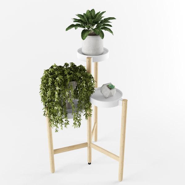 3d satsumas plant stand