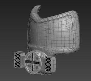 3d poli gas mask