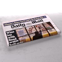 3d model daily mail newspaper folds