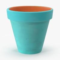 3d model of large painted flower pot