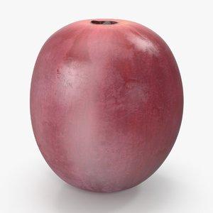 3d red grape 3