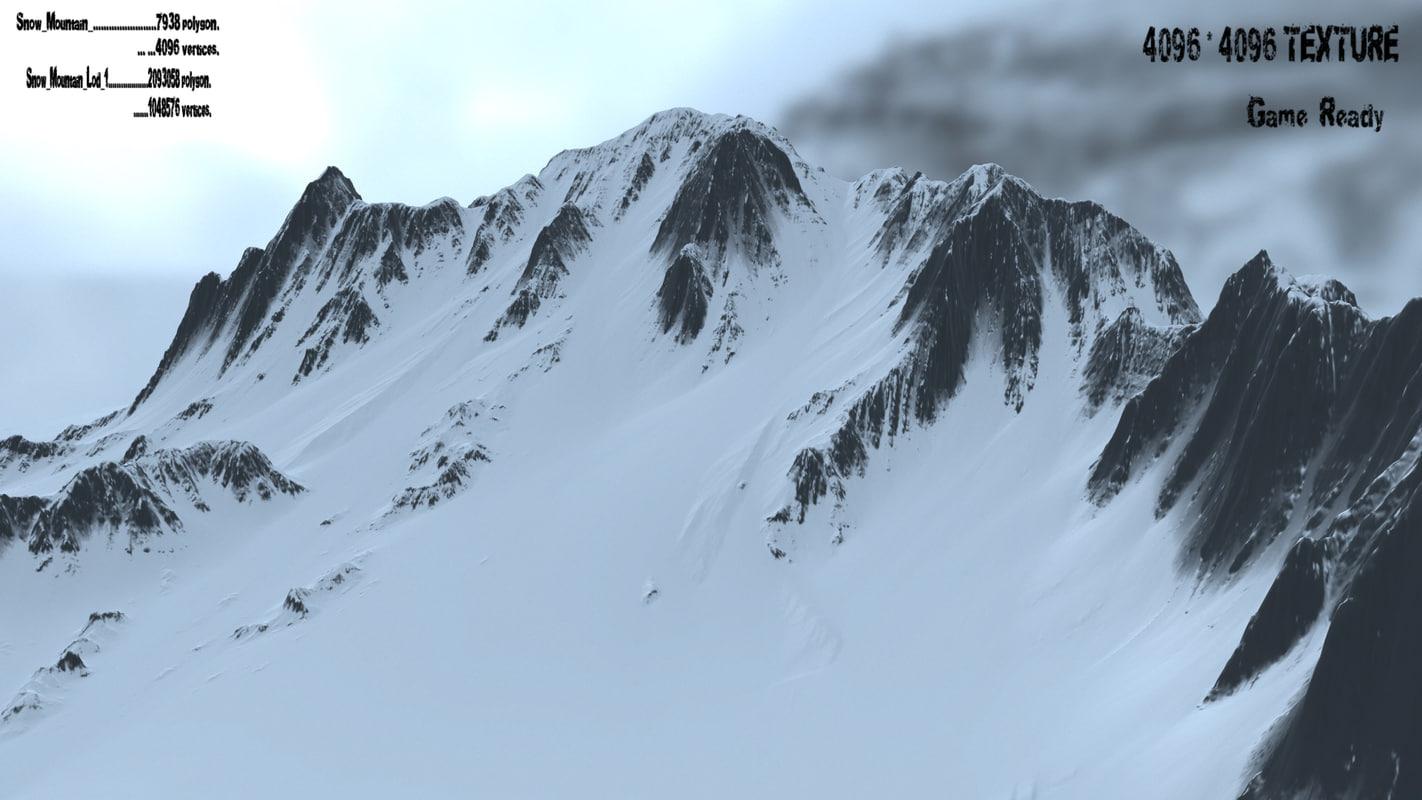 3d obj snow mountain