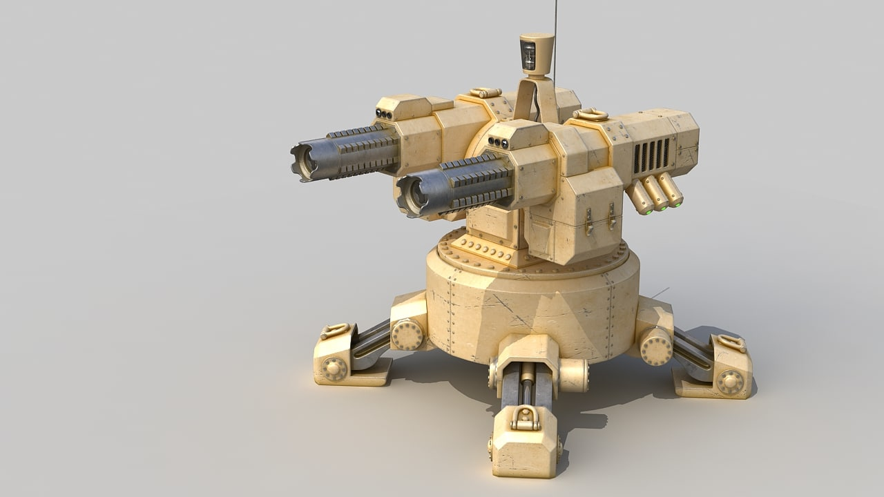 3d model automatic turret