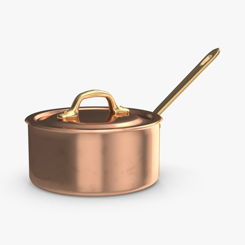 copper cooking pot 3d model