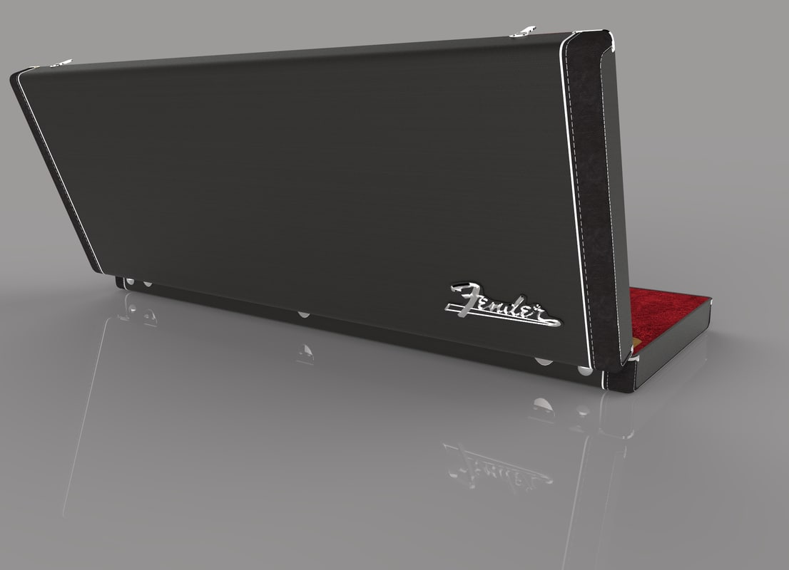 3d model fender stratocaster original case