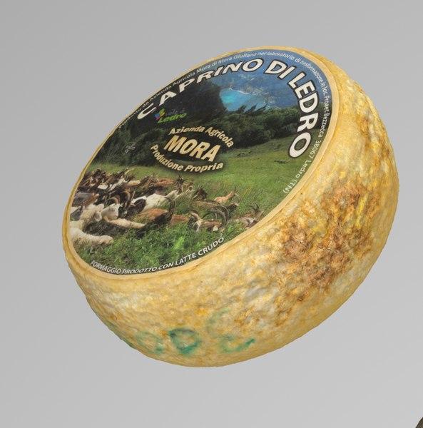 3d cheese caprino octane model