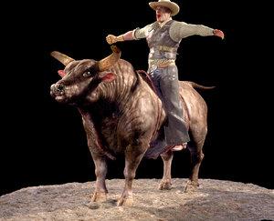 3d model bull zbrush