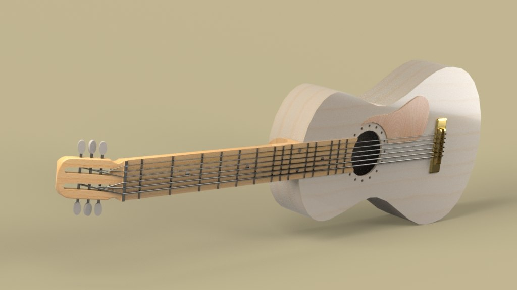 guitar acoustic 3ds