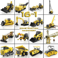 3d heavy construction machinery equipment model