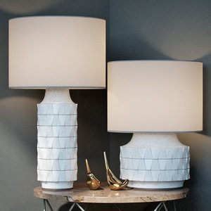 3d max ceramic table lamp -