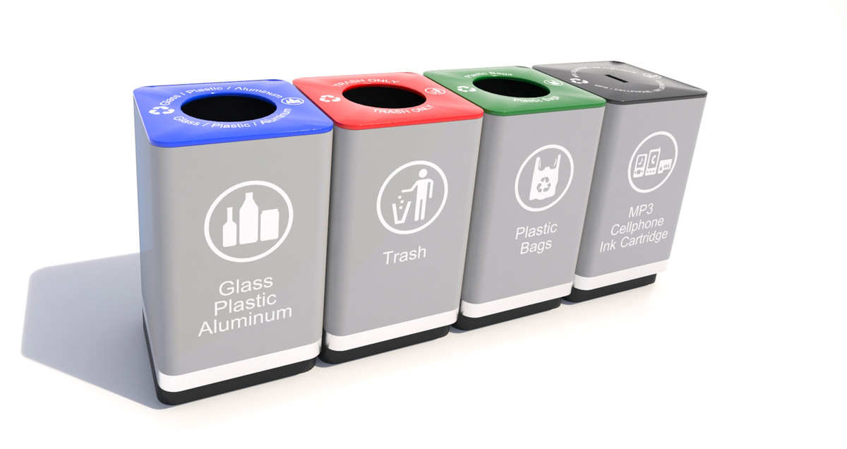recycle bins 3d max