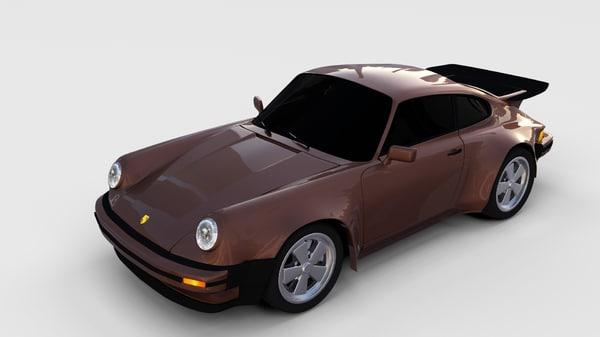 1975 porsche 911 3d obj