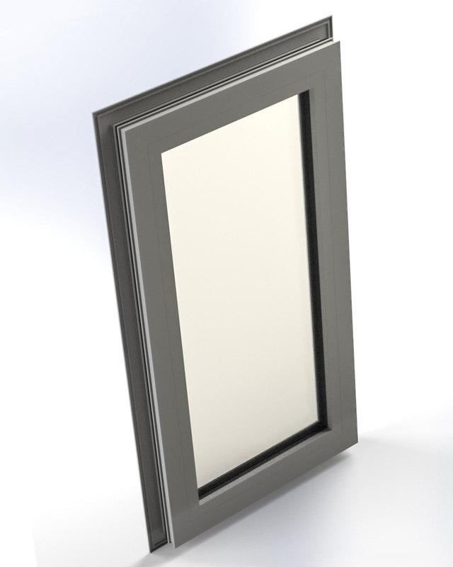 plastic window 3d model