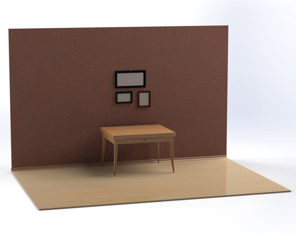 room frame table 3d model