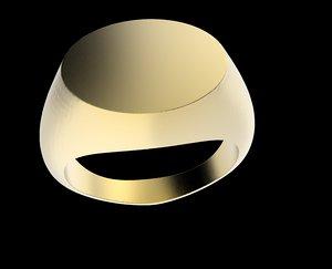 signet ring 3d model
