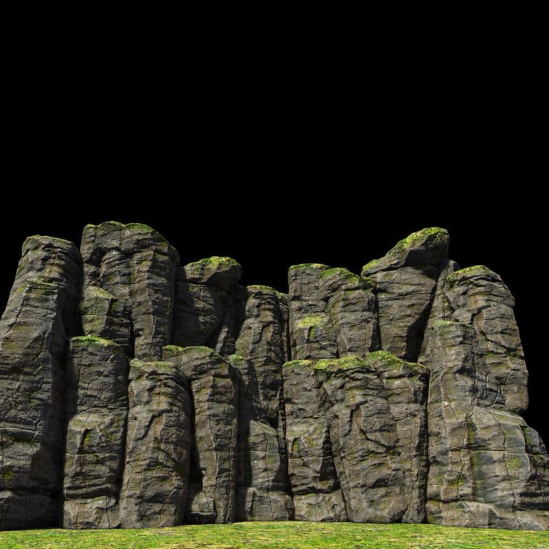 stone scene 3d model