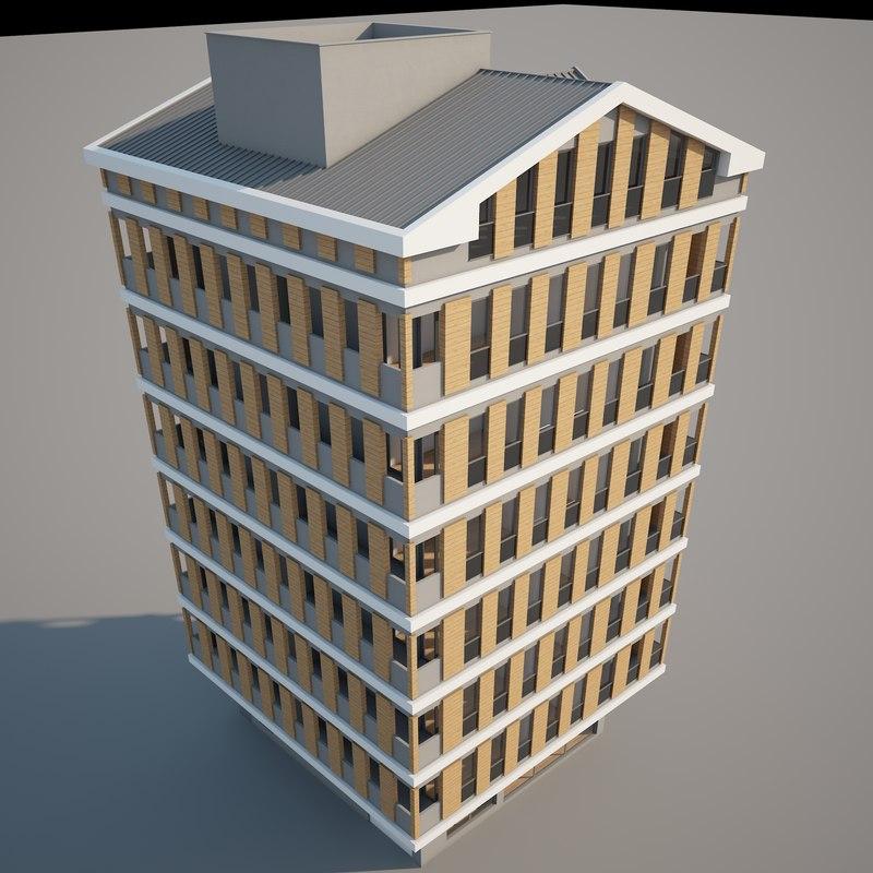 3d apartment v-ray model