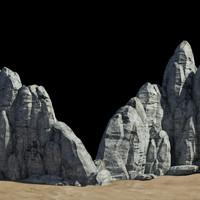 3d rocky cliff