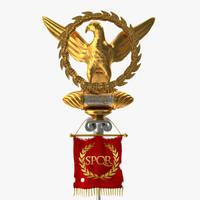 ancient roman aquila 3d model