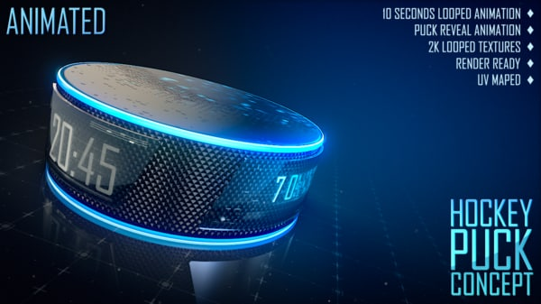 3d hockey puck concept