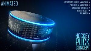 3d hockey puck concept