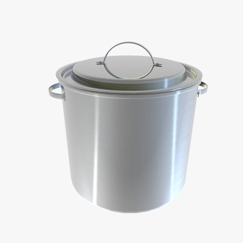 cooking pot canteen obj