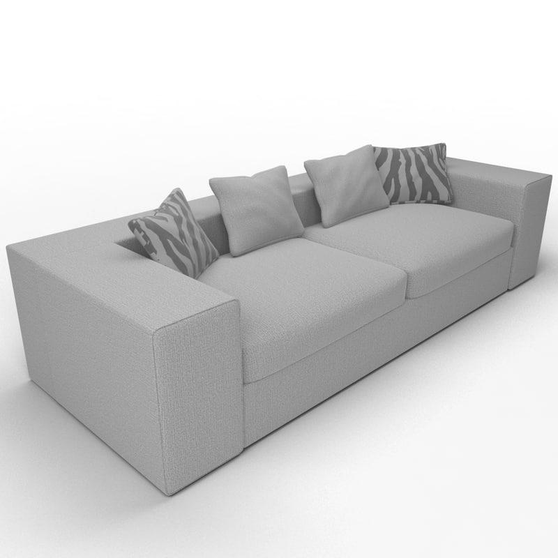 3d model sofa spring field