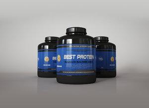 3ds protein supplement bottles
