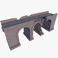 3d model bridge ruins
