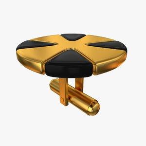 cufflinks collada dae 3d model