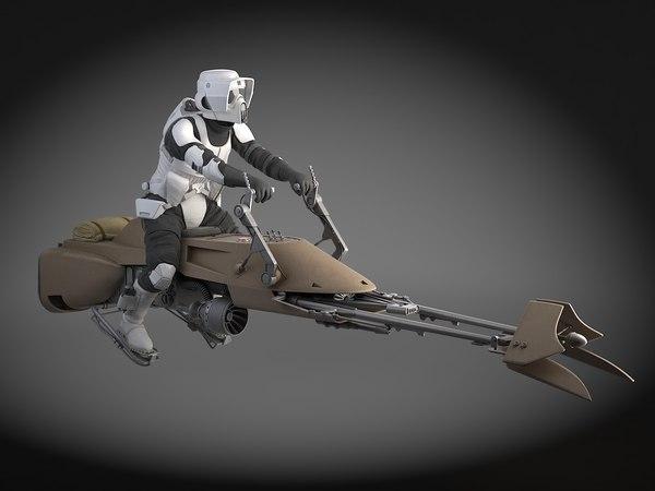 3d model star wars scout