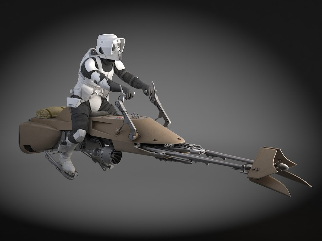 3d model star wars scout