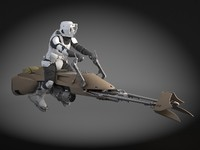 Star Wars Scout trooper with Bike