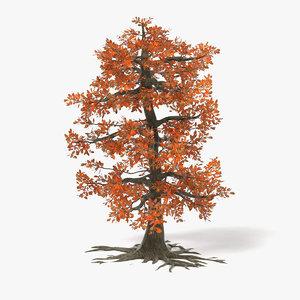 big oak autumn tree 3d 3ds