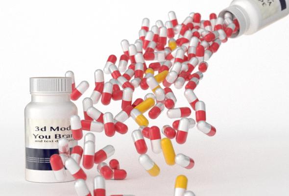 3d blend pills bottle