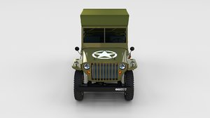 3d military jeep willys