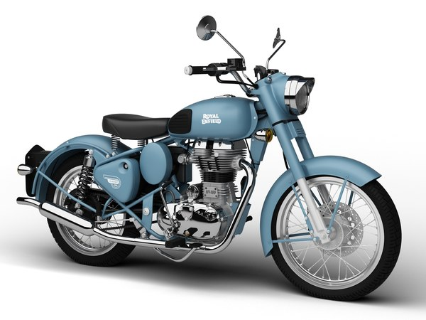 3d model royal enfield classic squadron