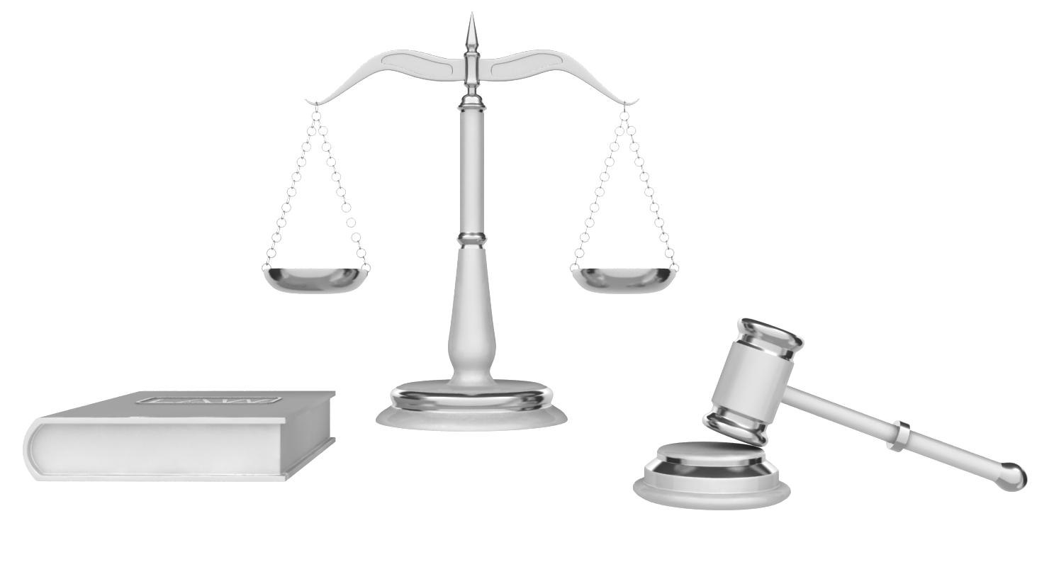 3d legal gavel scales law