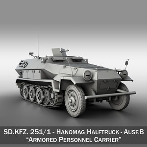 3ds max sd kfz 251 1