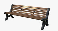 city bench italy 3ds